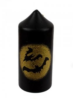"""Свеча на Хэллоуин """"Bat"""" черная"""