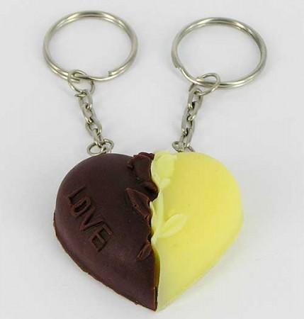 "Брелок ""шоколадное сердечко"""