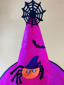 Колпак фиолетовый с глазастым пауком