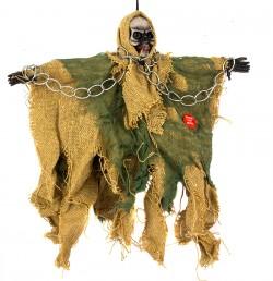 Скелет висячий в цепях желтый