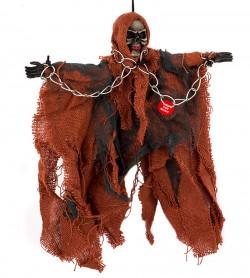 Скелет висячий в цепях красный