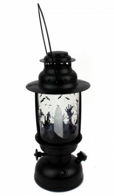 Керосиновая лампа Хэллоуин черная