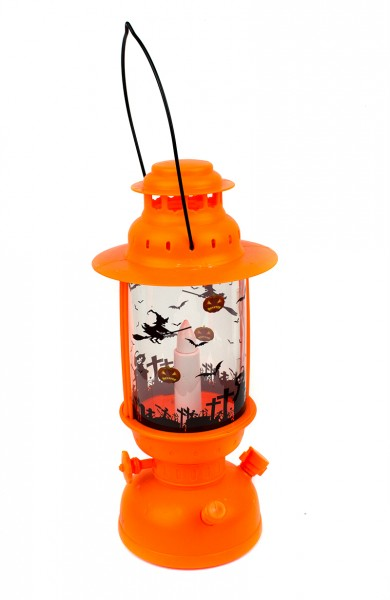 Керосиновая лампа Хэллоуин оранжевая