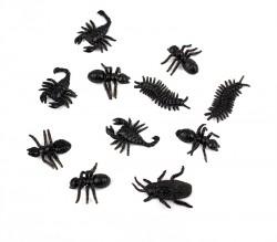 Насекомые черные в пачке 8 шт