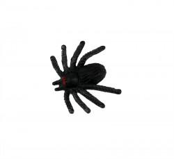 Паук маленький чёрный пластмассовый 1.5 см