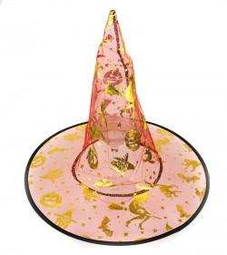 Шляпа Колпак Ведьмы капроновая феолетовая