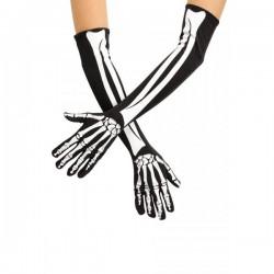 Перчатки Скелета длинные