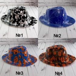 Шляпа Мужская пластик с принтом Хэллоуин