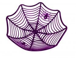 Тарелка Паутинка фиолетовая