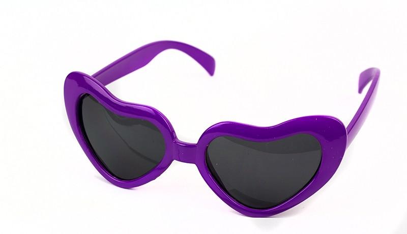 Очки Сердца фиолетовые