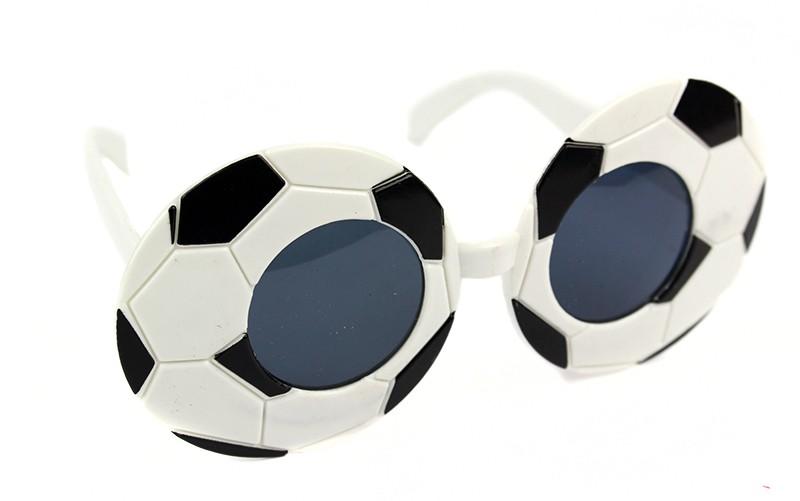 Очки футбол бело-черные