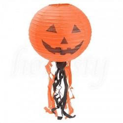 Декор подвесной оранжевый с тыквой 30 см