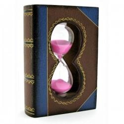 Часы песочные Книга розовые