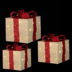 """Комплект с 3-х декоративных фигурок """"Три цветных подарка"""""""