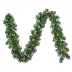 Гирлянда декоративная Norton зеленая с инеем 270 см.