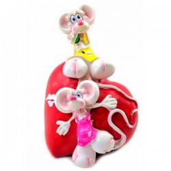 Мышки на сердечке Копилка