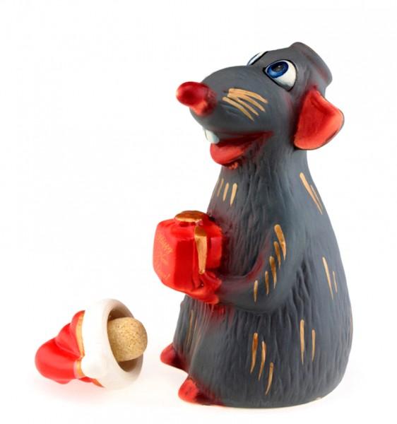 Крыса Санта графин штоф  – символ года 2020