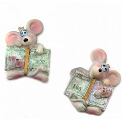 Магнит на холодильник Мышка с деньгами