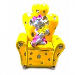 Мышка на кресле шкатулка