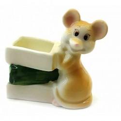 Мышка подставка для зубочисток фарфоровая