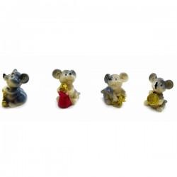Мышка с монетой полимер