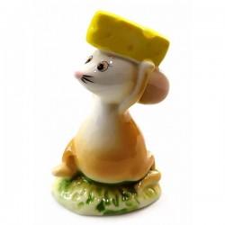 Мышка с сыром фарфоровая
