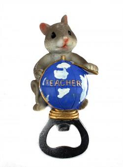 Магнит открывашка Мышка учитель
