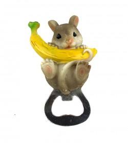 Магнит открывашка Мышка с бананом