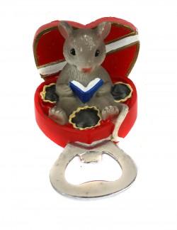 Магнит открывашка Мышка в шкатулке
