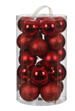 Елочные шарики House of Seasons комплект красный 23 шт
