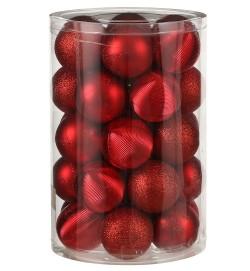 Елочные шарики пластиковые House of Seasons комплект красный 34 шт