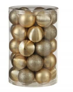 Елочные шарики пластиковые House of Seasons комплект золотой 34 шт