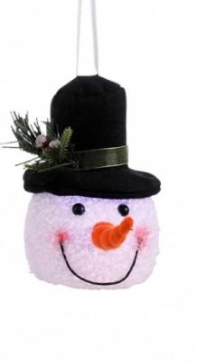 Декоративная фигурка Снеговик черный