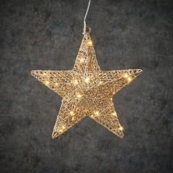 Новогодняя светящаяся фигура Звезда шампань