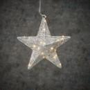 Новогодняя светящаяся фигура Звезда серебро