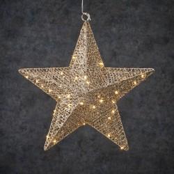 Новогодняя светящаяся фигура Luca Lighting Звезда шампань