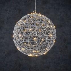 Новогодняя светящаяся фигура Luca Lighting Шар серебро