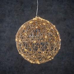 Новогодняя светящаяся фигура Luca Lighting Шар шампань