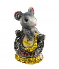 Мышка с подковой копилка