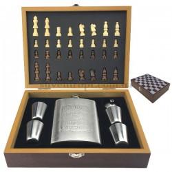 Подарочный набор Фляга с шахматами
