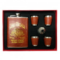 Набор фляга с золотым тиснением Jack Daniels