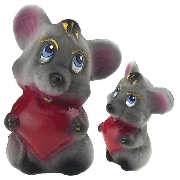Копилка мышка с сердцем
