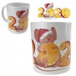 Кружка Новый год Мышка с сыром