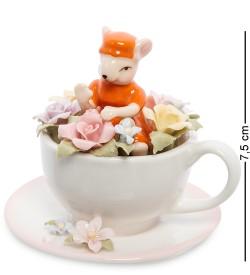 Статуэтка Мышка в цветочной чашке