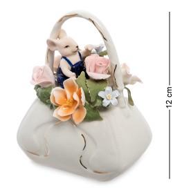 Статуэтка Мышонок с сумкой цветов