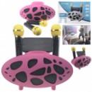 Беспроводная колонка-караоке с двумя микрофонами розовая
