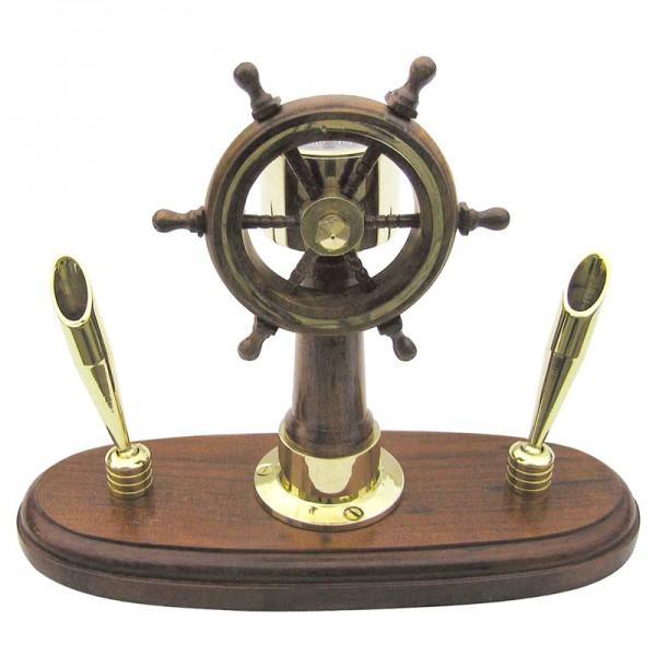 Подставка для ручек с компасом Штурвал