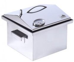 Коптильня с термометром крышка домиком нержавеющая сталь 300х300х250 толщина 2мм