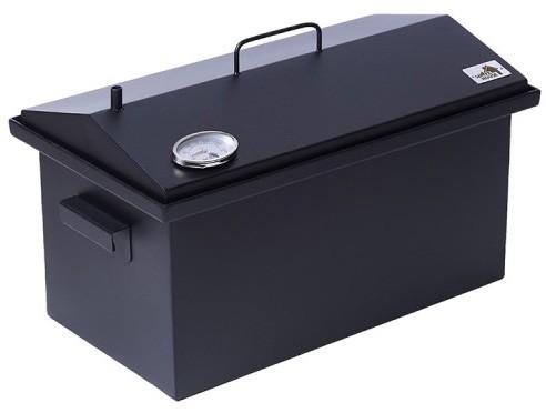 Коптильня Крышка Домиком 520х300х310 с термометром окрашенная толщина 2 мм