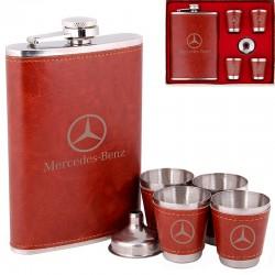 """Фляга """"Mercedes"""" подарочном наборе"""